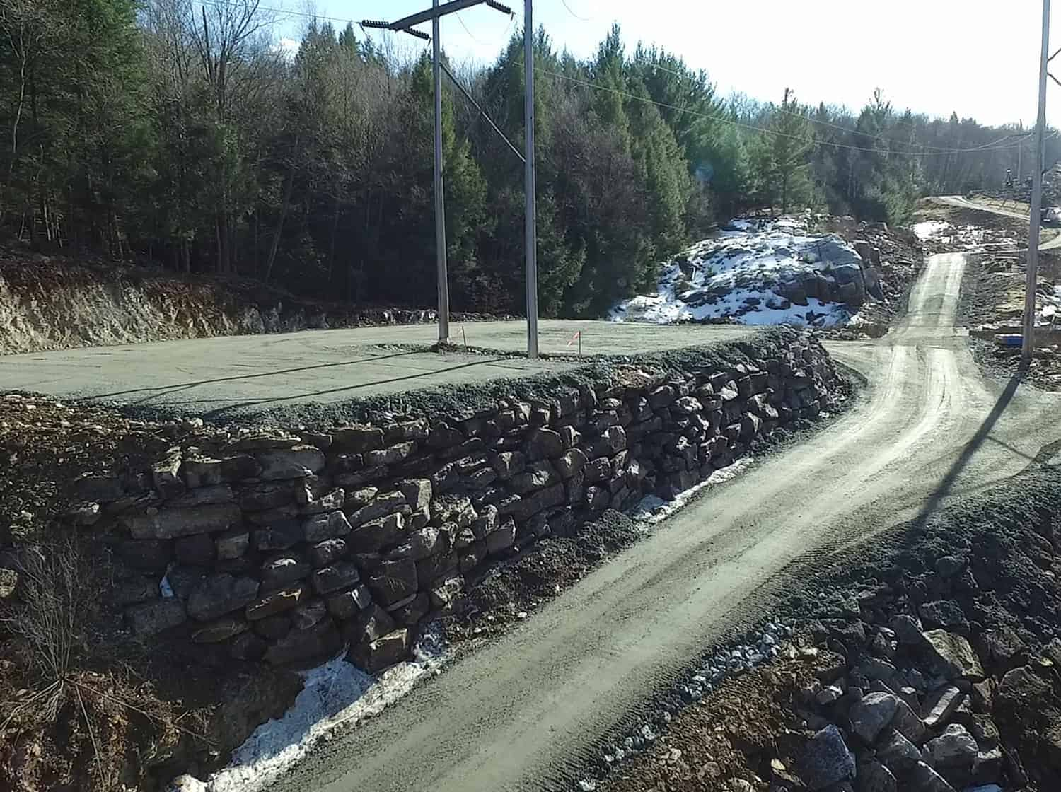 BLUROC builds temporary and permanent access roads
